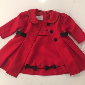 2 piece dress and coat